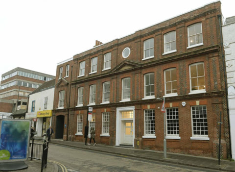 """Image of """"Space"""" studios on Queen St. Colchester. Premises of Agile Research"""