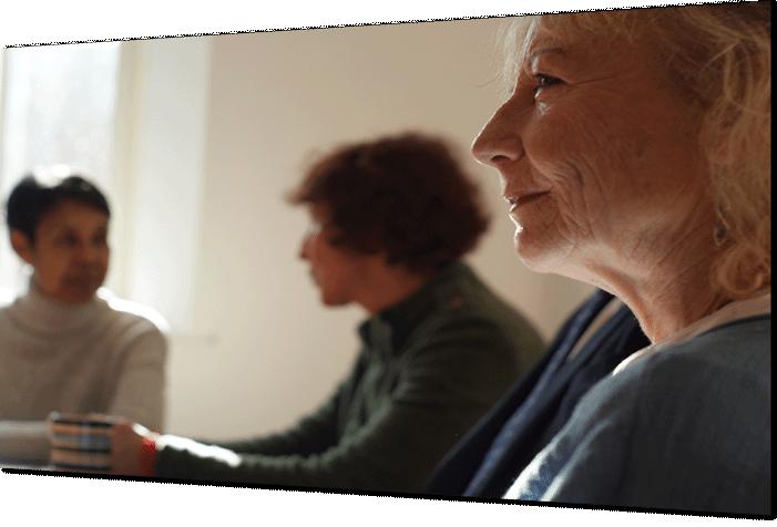 Image of older people evaluating a website